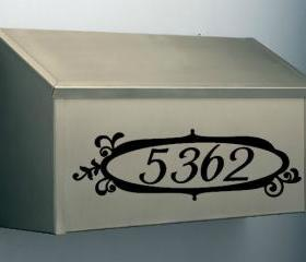 Mailbox Vinyl Number Decals