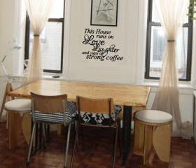 Love Laughter and strong coffee vinly decal
