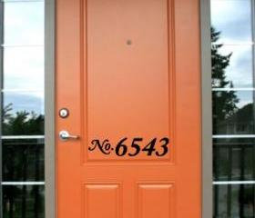 House/ Door Numbers Decal